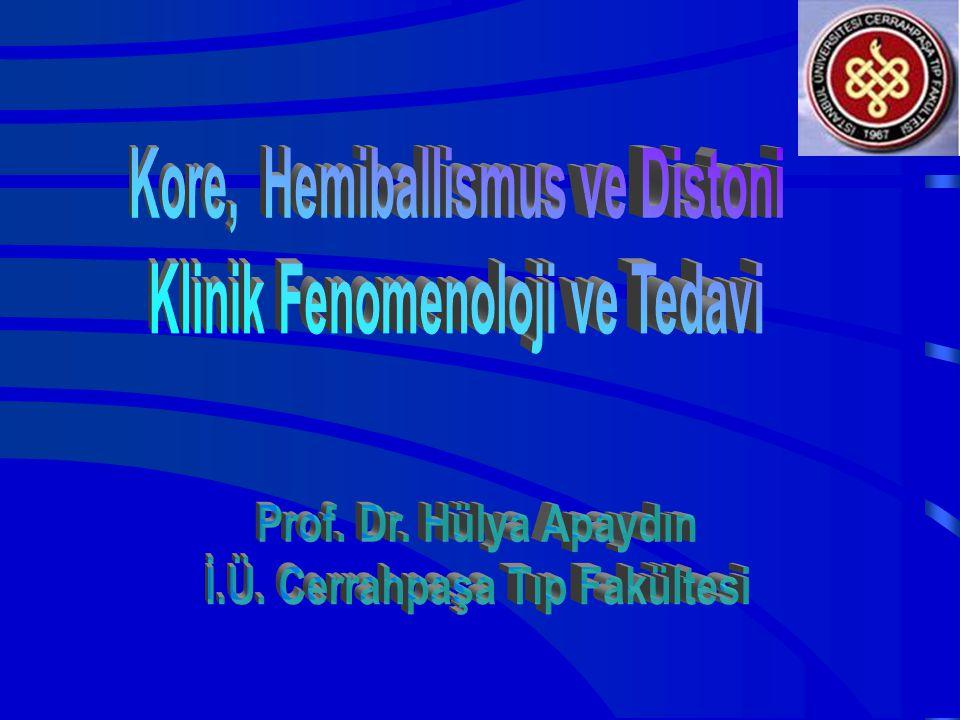 Kore, Hemiballismus ve Distoni Klinik Fenomenoloji ve Tedavi