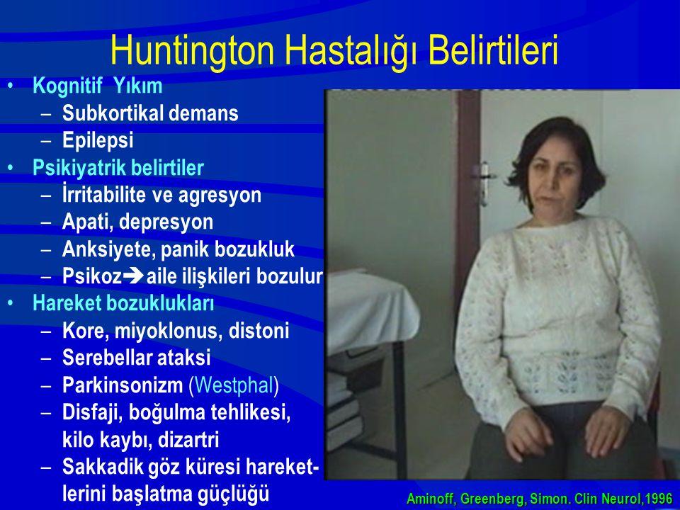 Huntington Hastalığı Belirtileri