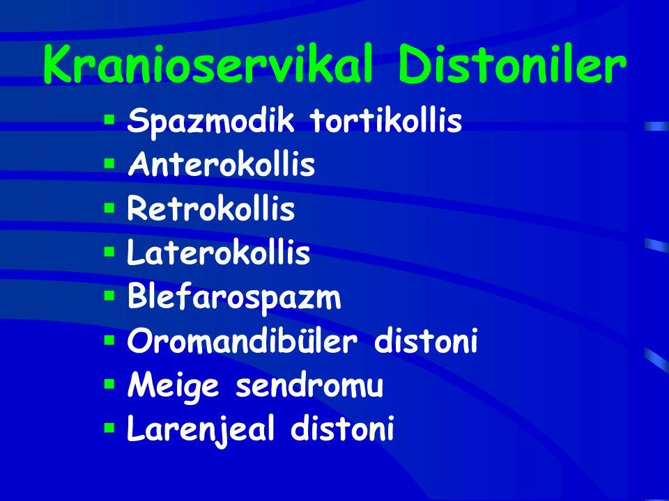 Kranioservikal Distoniler