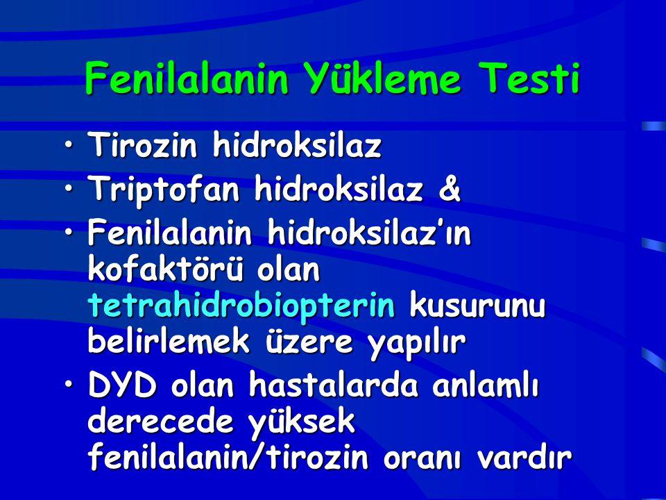Fenilalanin Yükleme Testi