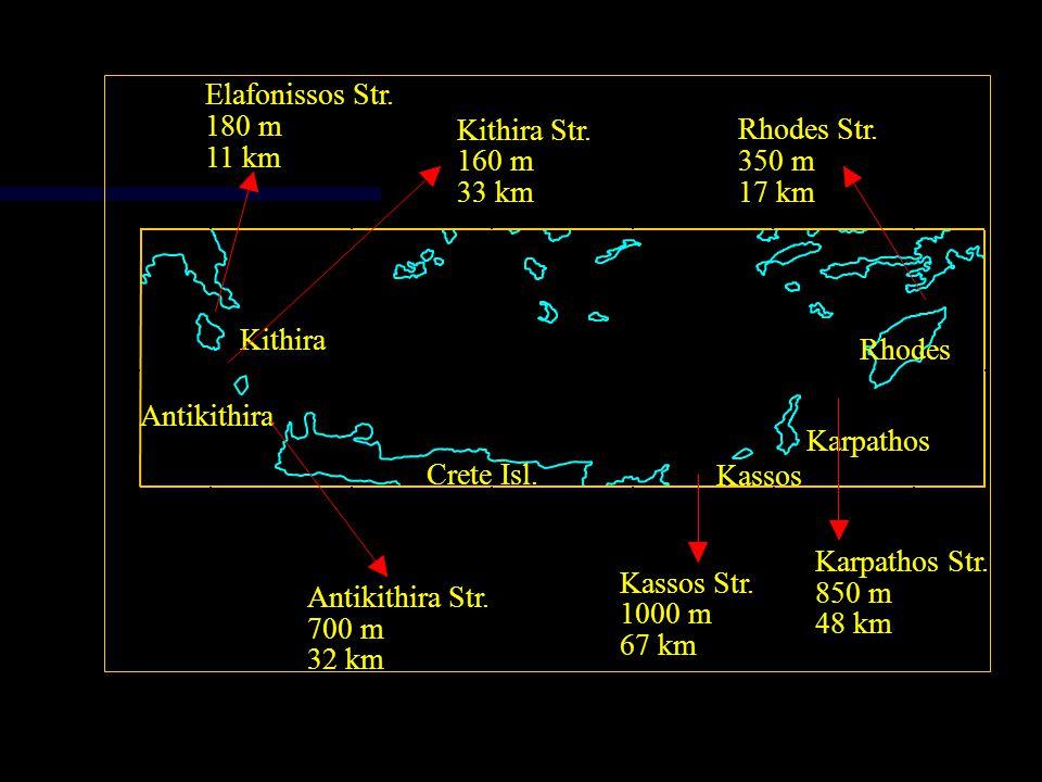 Elafonissos Str. 180 m. Kithira Str. Rhodes Str. 11 km. 160 m. 350 m. 33 km. 17 km. 37. Kithira.