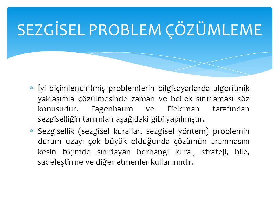 SEZGİSEL PROBLEM ÇÖZÜMLEME