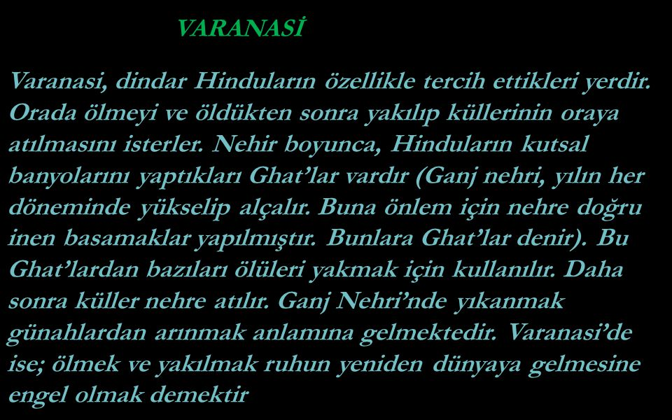 VARANASİ