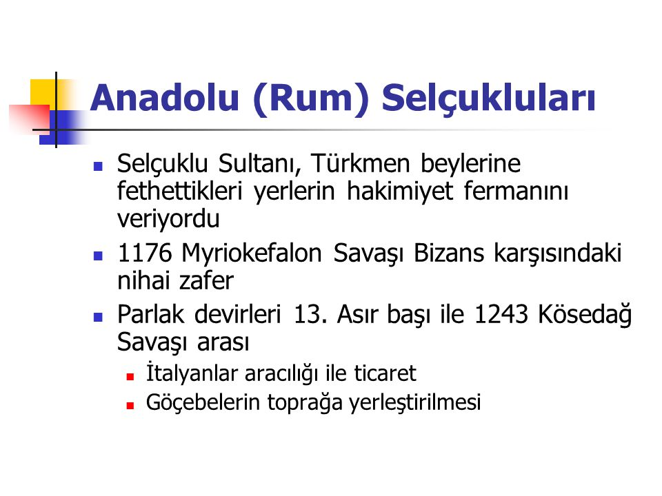 Anadolu (Rum) Selçukluları