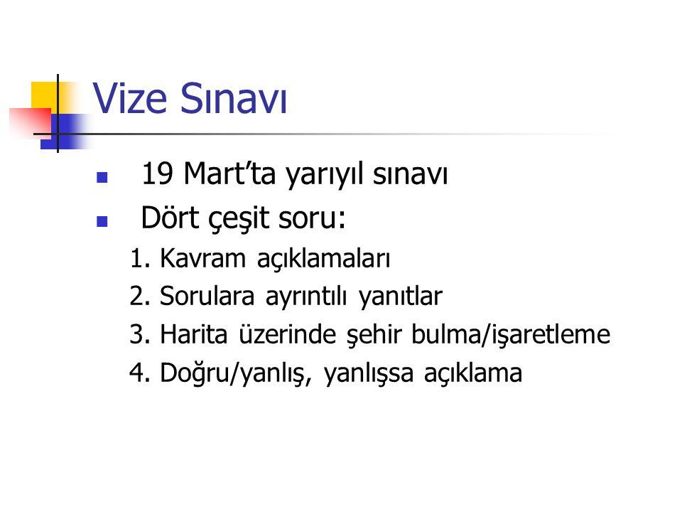 Vize Sınavı 19 Mart'ta yarıyıl sınavı Dört çeşit soru: