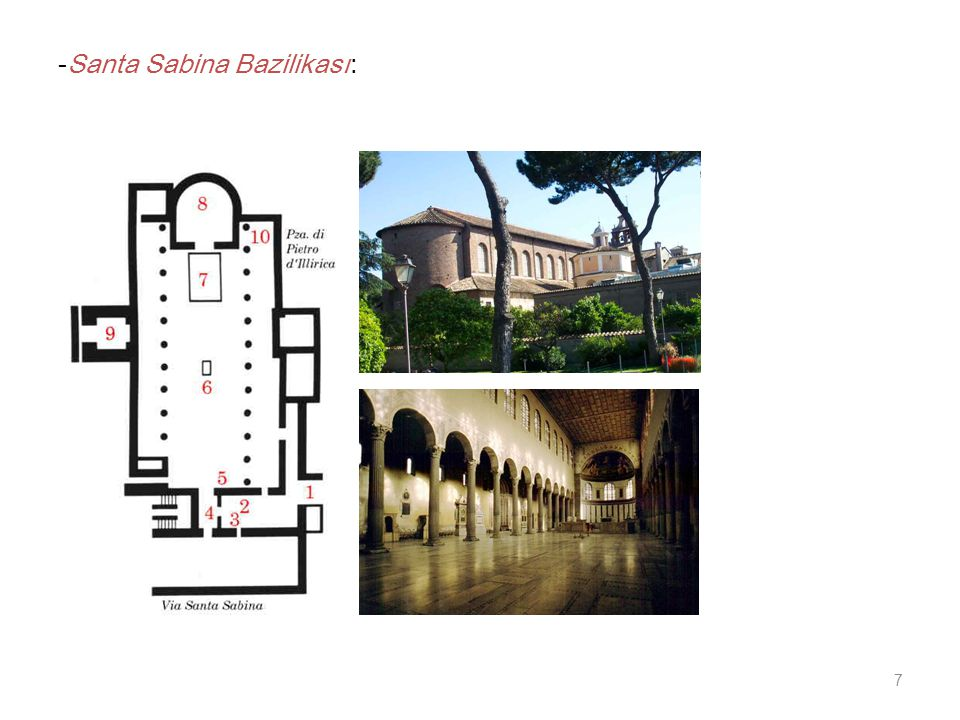 -Santa Sabina Bazilikası: