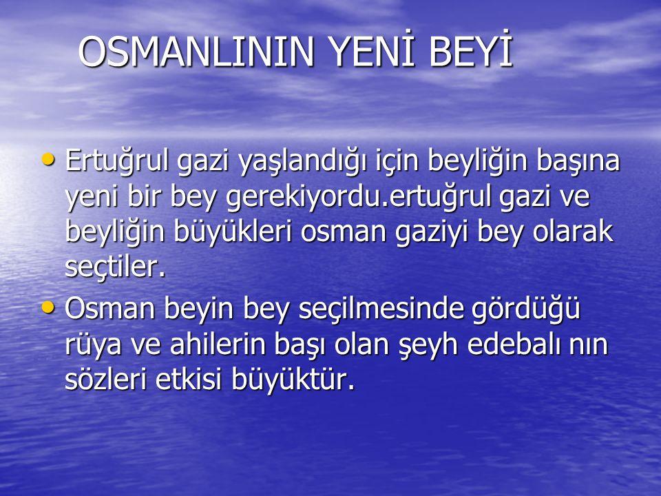 OSMANLININ YENİ BEYİ