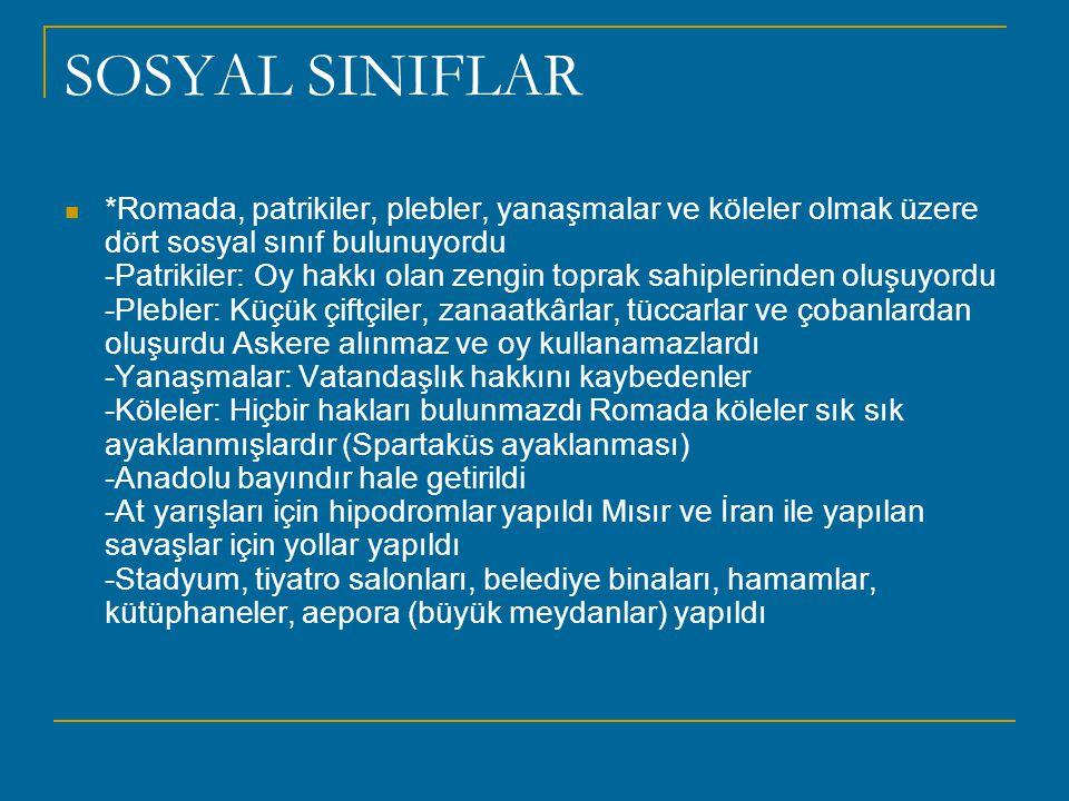 SOSYAL SINIFLAR