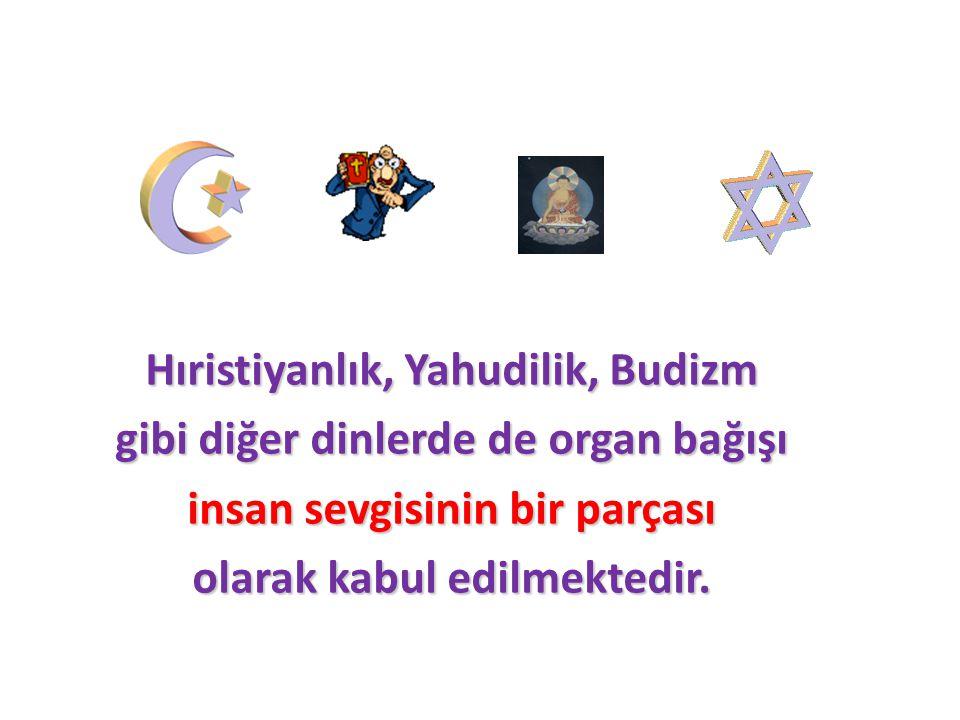Hıristiyanlık, Yahudilik, Budizm gibi diğer dinlerde de organ bağışı