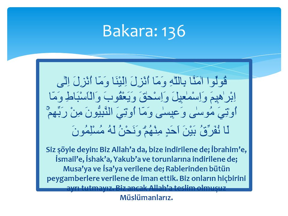 Bakara: 136