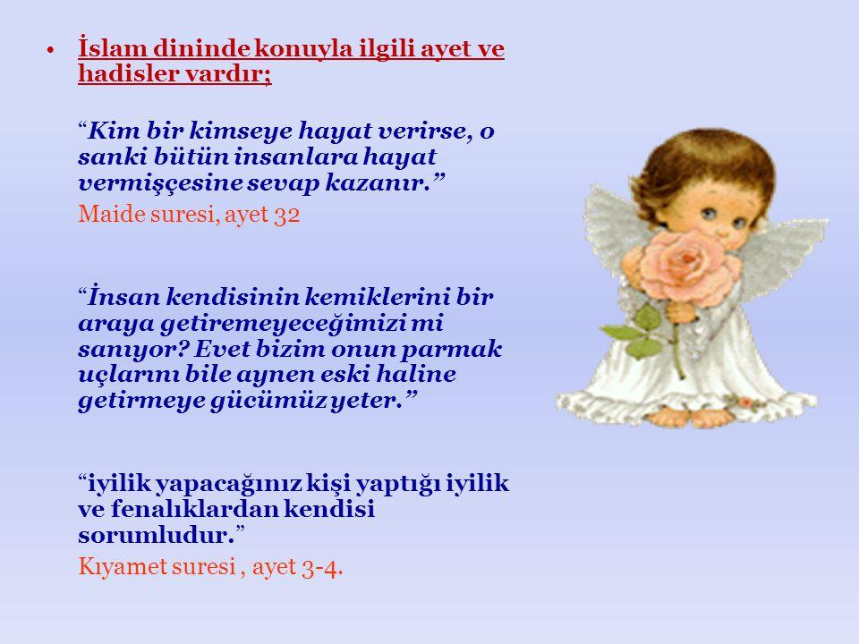 İslam dininde konuyla ilgili ayet ve hadisler vardır;