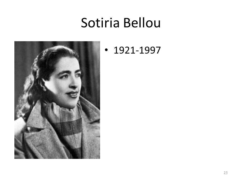 Sotiria Bellou 1921-1997