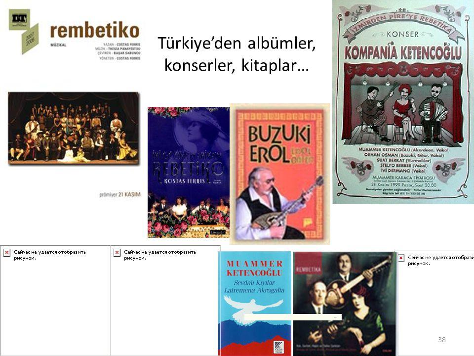 Türkiye'den albümler, konserler, kitaplar…