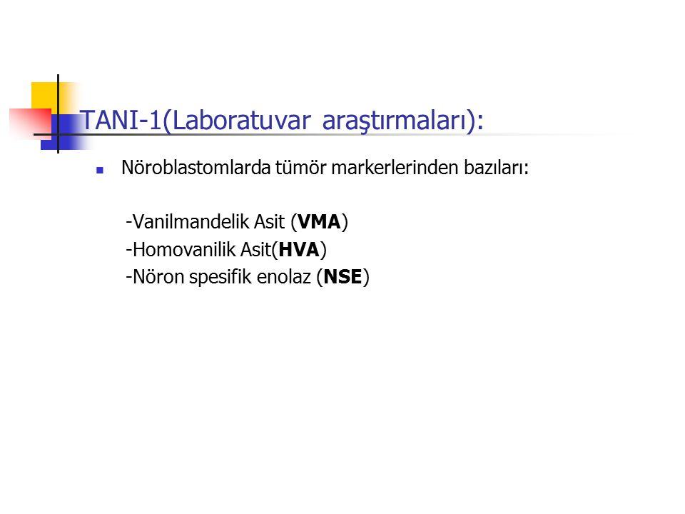 TANI-1(Laboratuvar araştırmaları):
