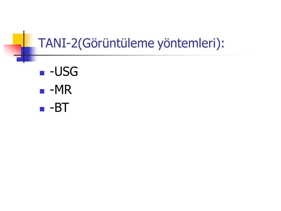 TANI-2(Görüntüleme yöntemleri):