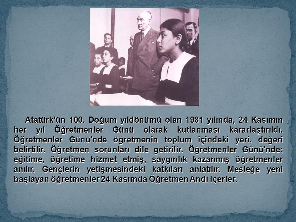 Atatürk ün 100.