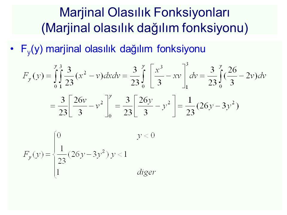 Marjinal Olasılık Fonksiyonları (Marjinal olasılık dağılım fonksiyonu)