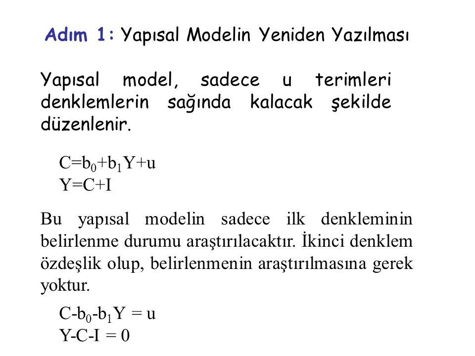 Adım 1: Yapısal Modelin Yeniden Yazılması