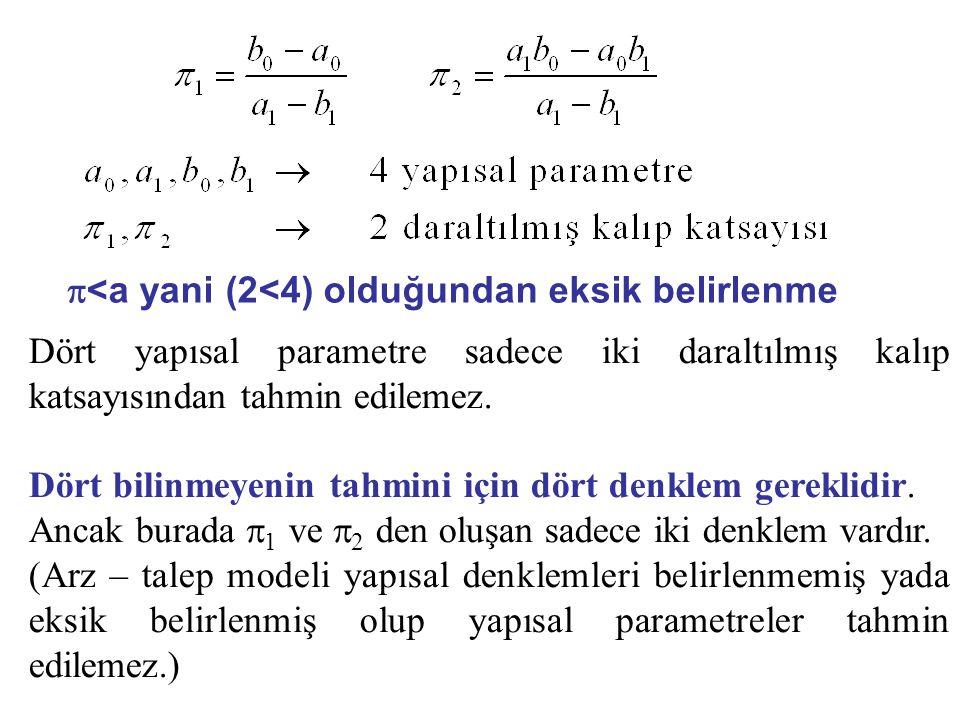p<a yani (2<4) olduğundan eksik belirlenme
