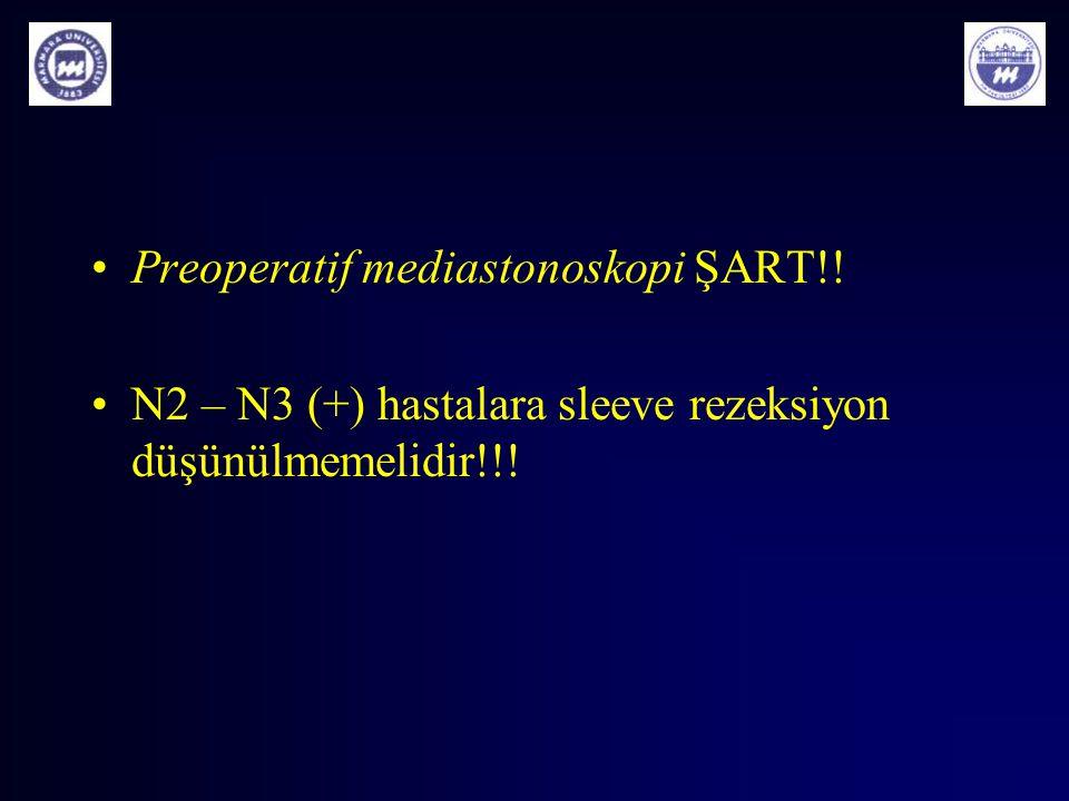 Preoperatif mediastonoskopi ŞART!!