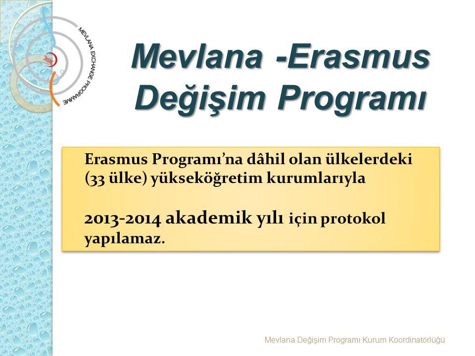 Mevlana -Erasmus Değişim Programı