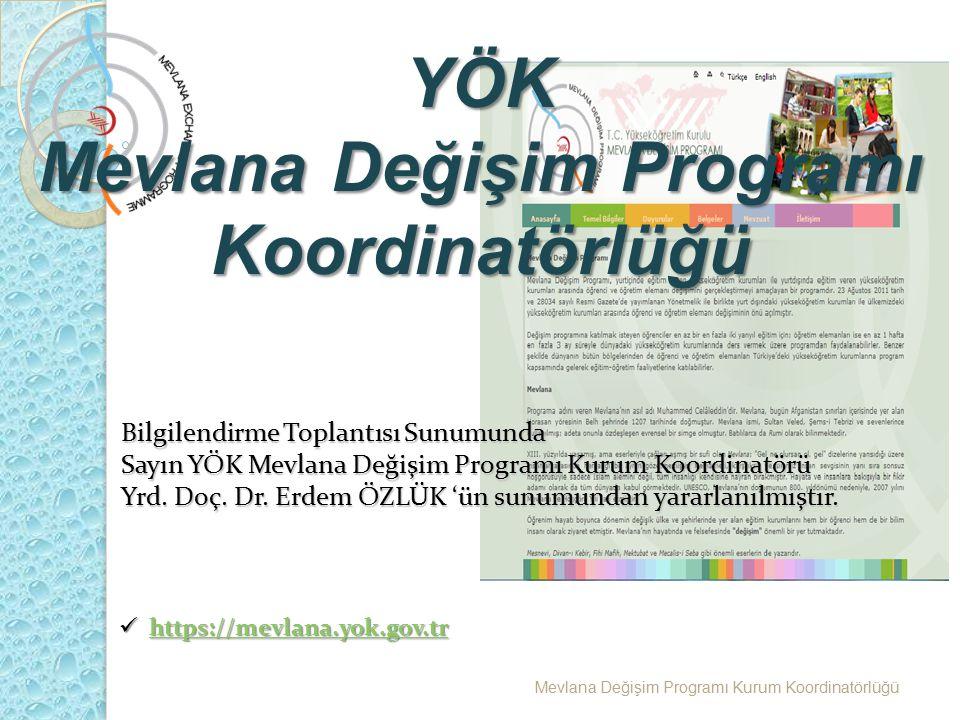 Mevlana Değişim Programı Koordinatörlüğü