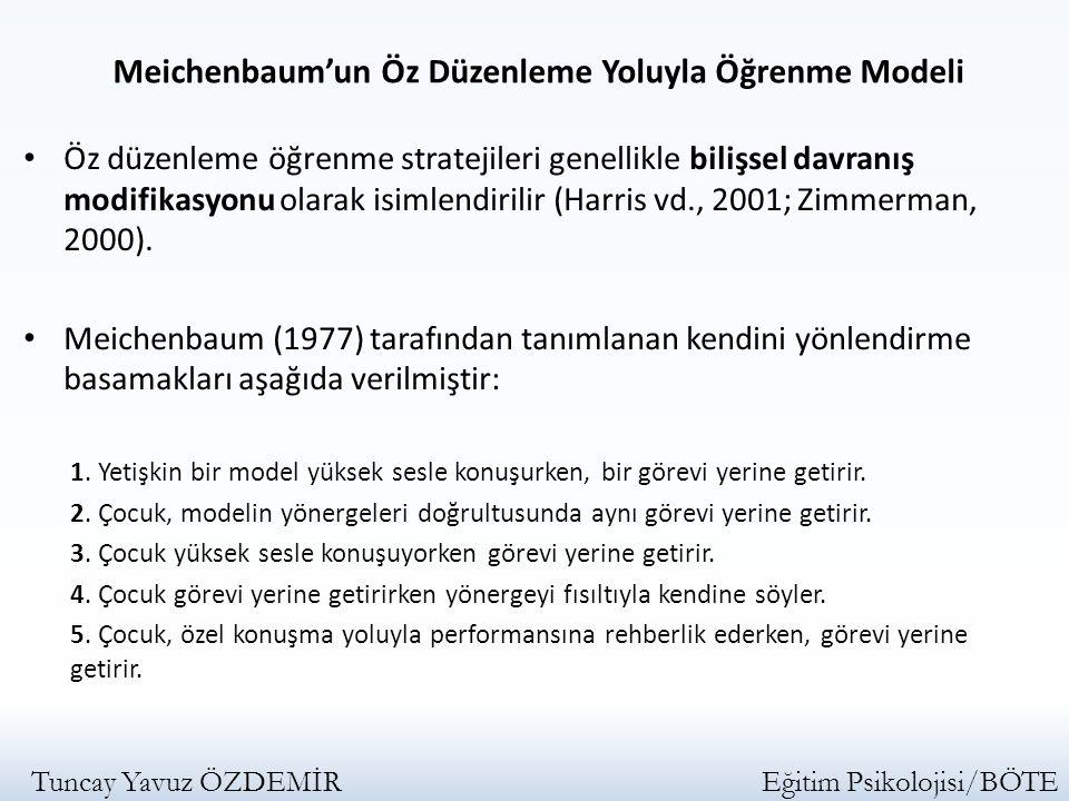 Meichenbaum'un Öz Düzenleme Yoluyla Öğrenme Modeli
