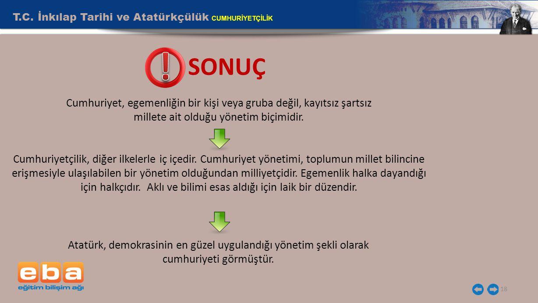 T.C. İnkılap Tarihi ve Atatürkçülük CUMHURİYETÇİLİK