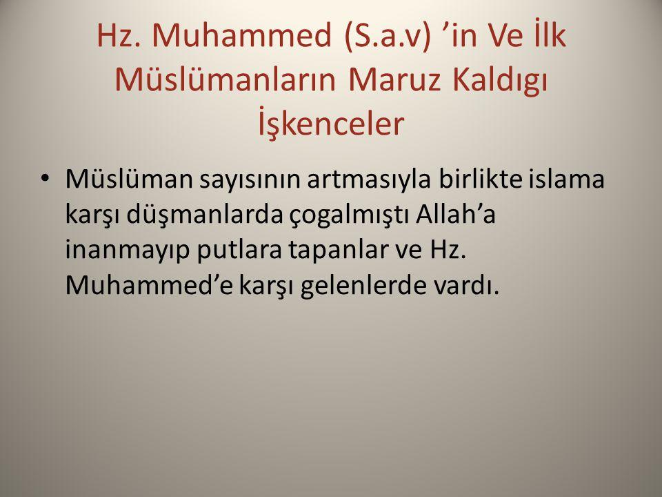 Hz. Muhammed (S.a.v) 'in Ve İlk Müslümanların Maruz Kaldıgı İşkenceler
