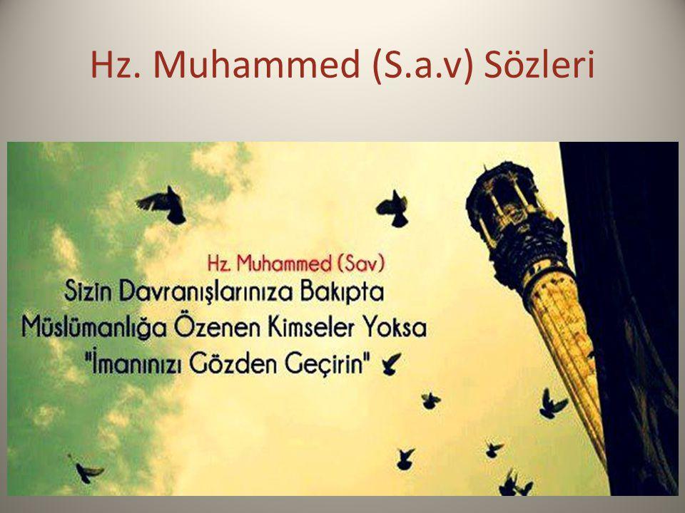Hz. Muhammed (S.a.v) Sözleri