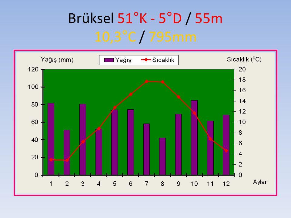 Brüksel 51°K - 5°D / 55m 10,3°C / 795mm