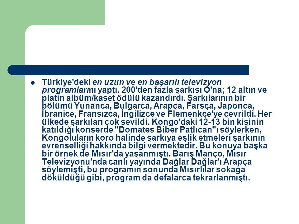 Türkiye deki en uzun ve en başarılı televizyon programlarını yaptı