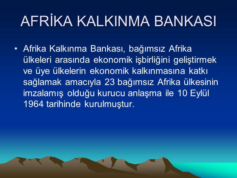 AFRİKA KALKINMA BANKASI