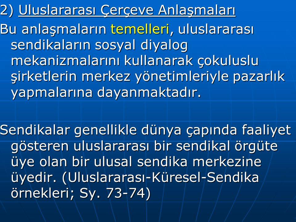 2) Uluslararası Çerçeve Anlaşmaları