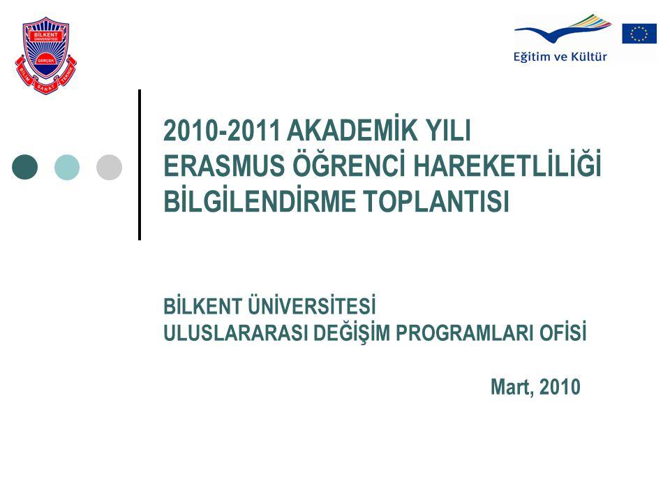 BİLKENT ÜNİVERSİTESİ ULUSLARARASI DEĞİŞİM PROGRAMLARI OFİSİ Mart, 2010