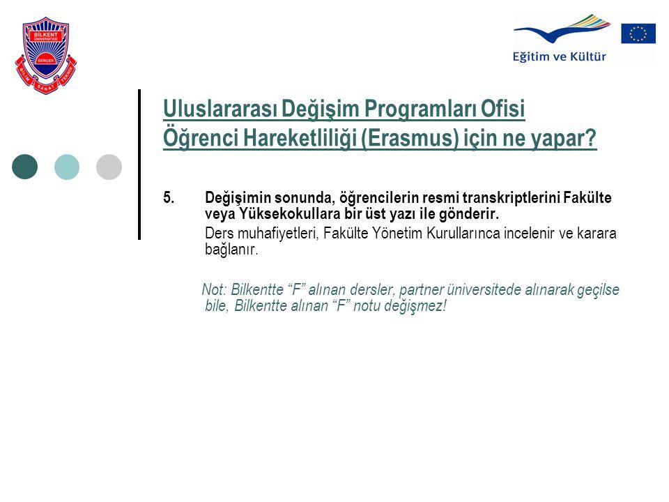 Uluslararası Değişim Programları Ofisi Öğrenci Hareketliliği (Erasmus) için ne yapar