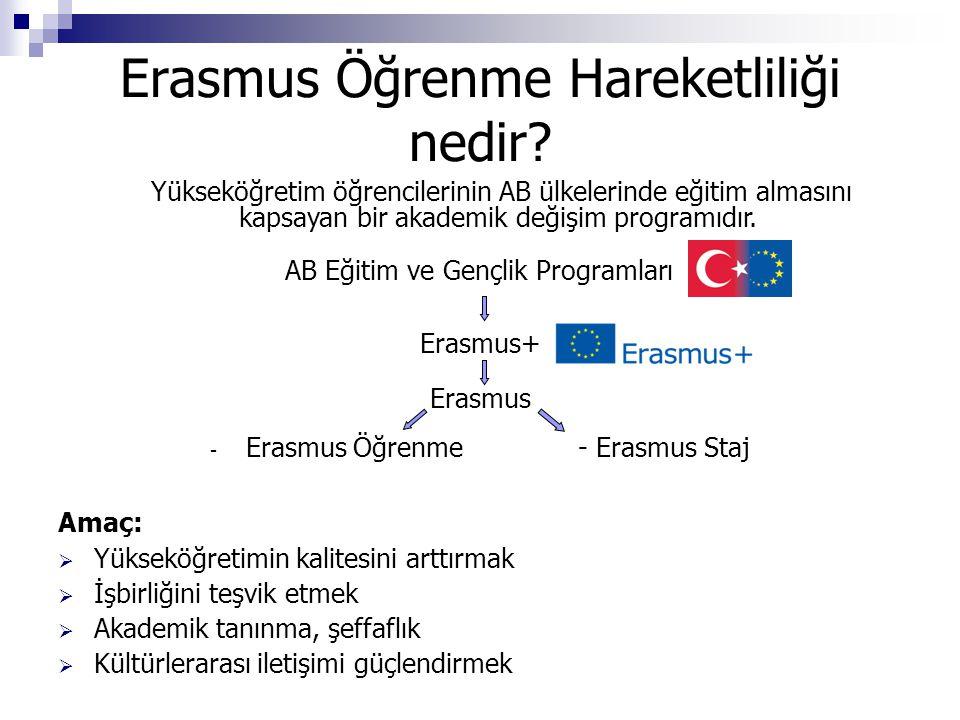 Erasmus Öğrenme Hareketliliği nedir