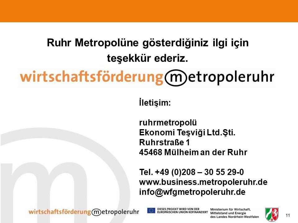 Ruhr Metropolüne gösterdiğiniz ilgi için