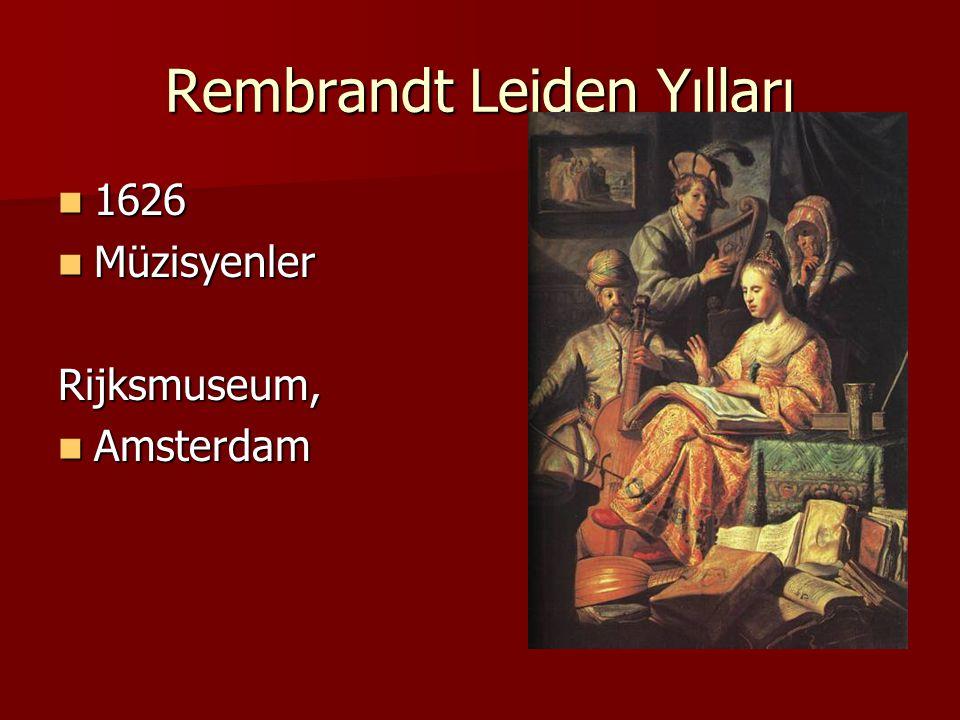 Rembrandt Leiden Yılları