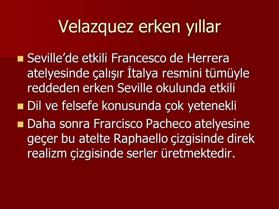 Velazquez erken yıllar