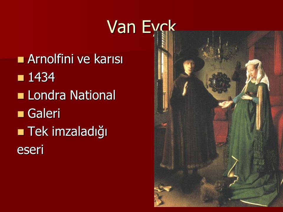 Van Eyck Arnolfini ve karısı 1434 Londra National Galeri