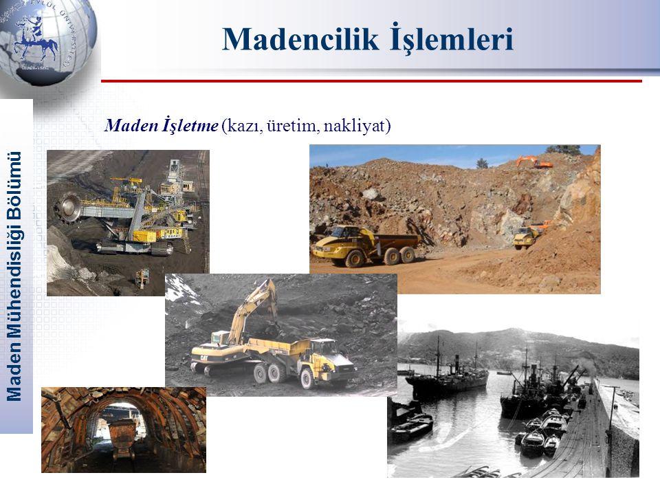 Madencilik İşlemleri Maden İşletme (kazı, üretim, nakliyat)