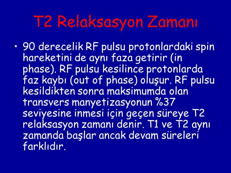 T2 Relaksasyon Zamanı