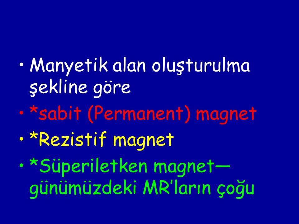 Manyetik alan oluşturulma şekline göre