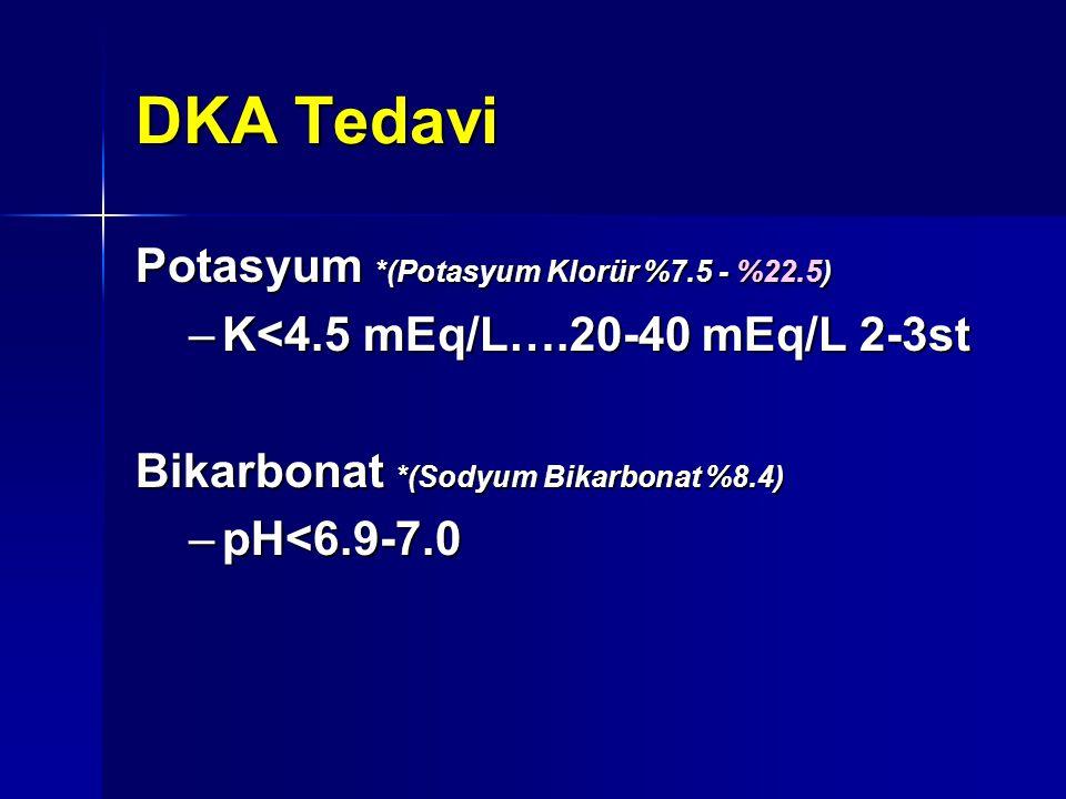 DKA Tedavi Potasyum *(Potasyum Klorür %7.5 - %22.5)