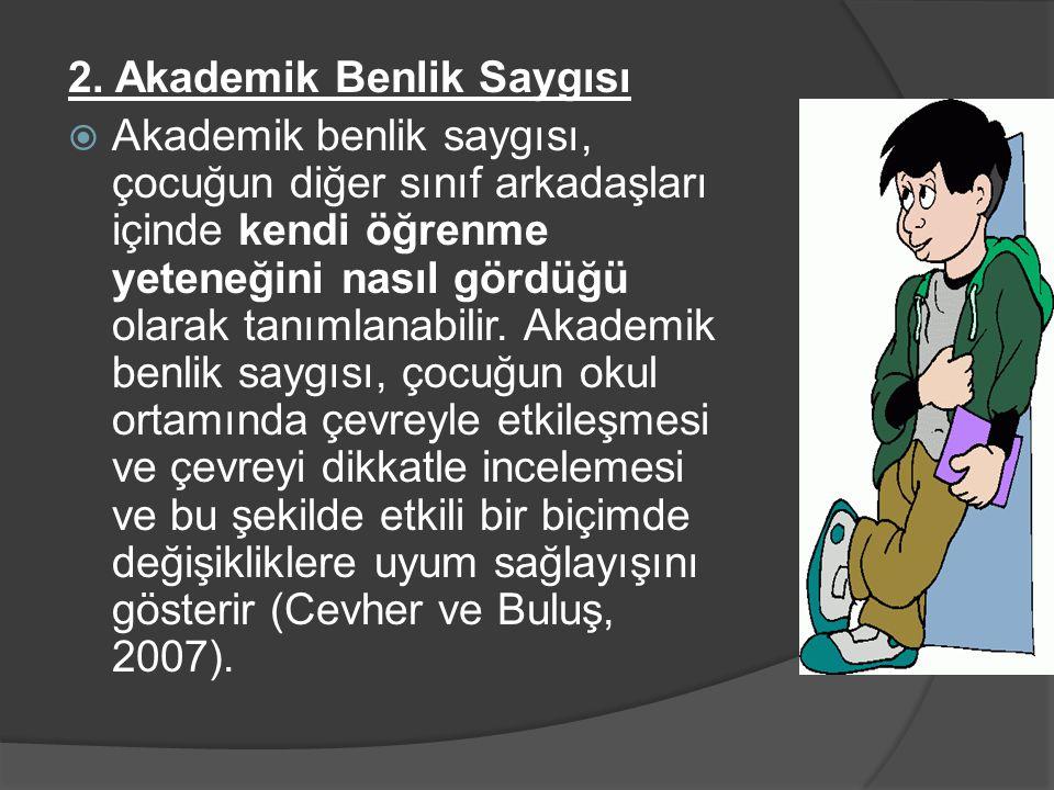 2. Akademik Benlik Saygısı