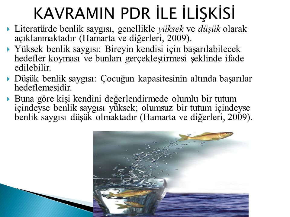 KAVRAMIN PDR İLE İLİŞKİSİ