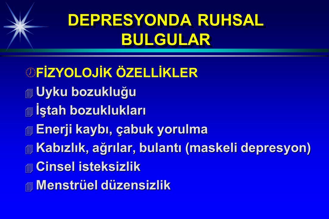 DEPRESYONDA RUHSAL BULGULAR