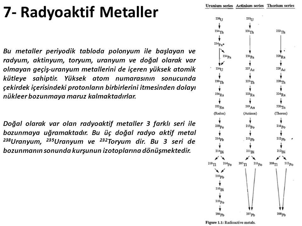 7- Radyoaktif Metaller