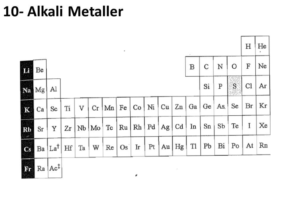 10- Alkali Metaller
